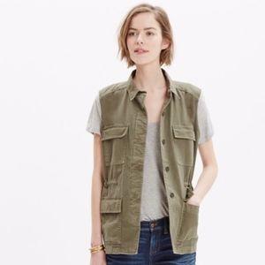Madewell Oversize Cargo Military Style Vest